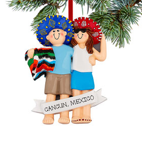 "Personalized 'Love in Mexico"" Christmas Ornament"