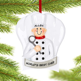 Personalized Chef Guy Christmas Christmas Ornament