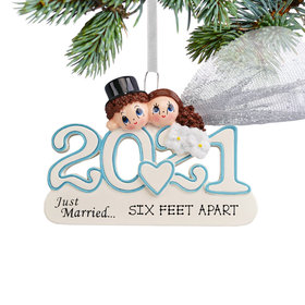 Personalized 2021 Wedding Christmas Ornament