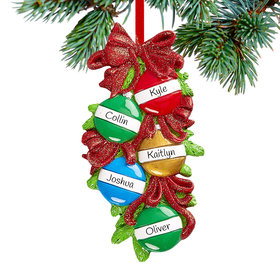 Personalized Christmas Ball Family of 5 Christmas Christmas Ornament