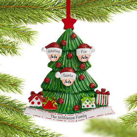 Personalized Tree Family of 3 Christmas Christmas Ornament