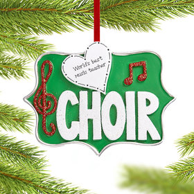 Personalized Choir Christmas Christmas Ornament