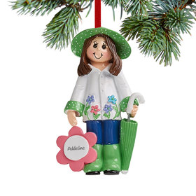 Personalized Loves Gardening Christmas Ornament