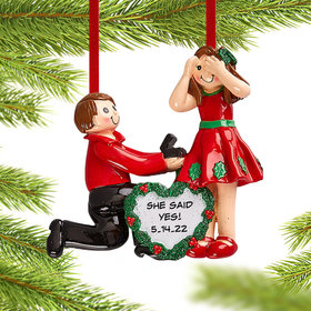 Personalized Proposal Christmas Christmas Ornament