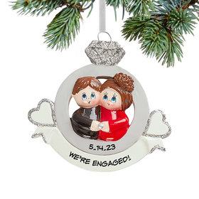Personalized Engaged Christmas Christmas Ornament