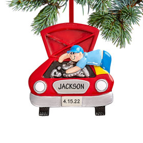 Personalized Mechanic Christmas Christmas Ornament