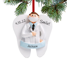 Personalized Dentist Boy Christmas Christmas Ornament