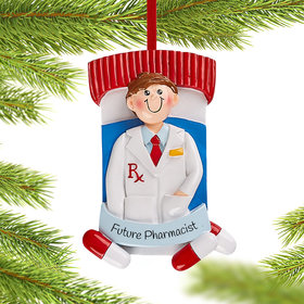 Personalized Pharmacist Boy Christmas Christmas Ornament