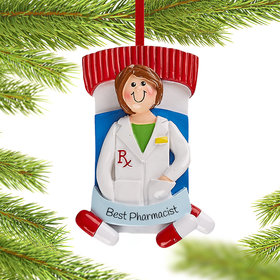 Personalized Pharmacist Girl Christmas Christmas Ornament