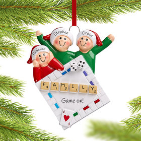 Personalized Game Night of 3 Christmas Christmas Ornament