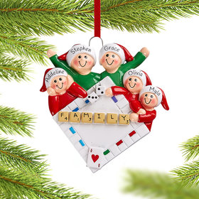 Personalized Game Night of 5 Christmas Christmas Ornament