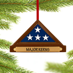 Personalized Memorial Flag Christmas Christmas Ornament