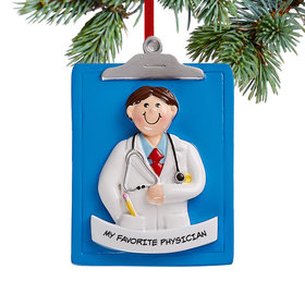 Personalized Doctor Man Christmas Ornament