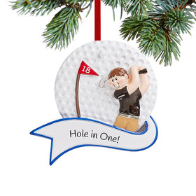 Personalized Golf Boy Christmas Christmas Ornament