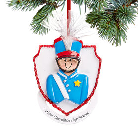 Personalized Marching Band Boy Christmas Christmas Ornament
