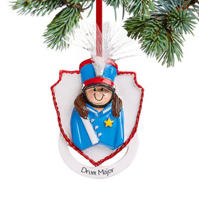 Personalized Marching Band Girl Christmas Christmas Ornament