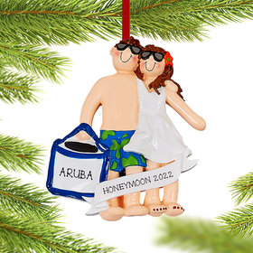 Personalized Love On The Beach Christmas Christmas Ornament