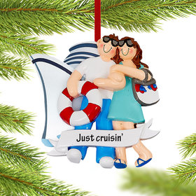 Personalized Love On A Cruise Ship Christmas Christmas Ornament