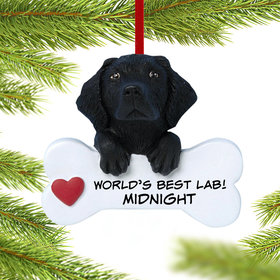Personalized Black Labrador Retriever Christmas Christmas Ornament