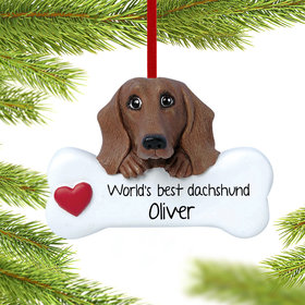 Personalized Dachshund Christmas Christmas Ornament