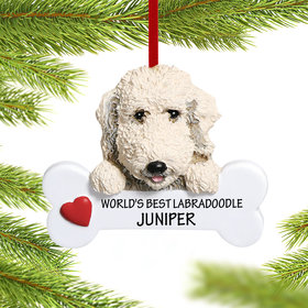 Personalized Labradoodle Christmas Christmas Ornament