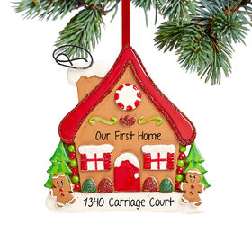 Personalized Gingerbread House Christmas Christmas Ornament