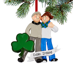 Personalized Love In Ireland Christmas Christmas Ornament