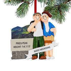 Personalized Love In The Mountains Christmas Christmas Ornament