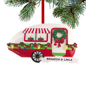 Personalized Christmas Teardrop Camper Christmas Ornament