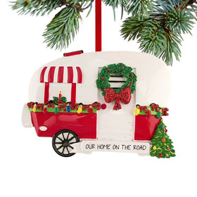 Personalized Christmas Camper Christmas Ornament