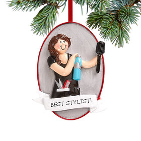 Personalized Hair Stylist Gal Christmas Ornament