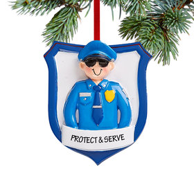 Personalized Police Man Christmas Christmas Ornament