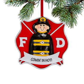 Personalized Firefighter Guy Christmas Christmas Ornament