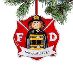 Personalized Firefighter Girl Christmas Christmas Ornament