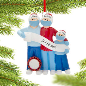 Personalized Vaccine Pandemic Survival Family of 3 Christmas Ornament