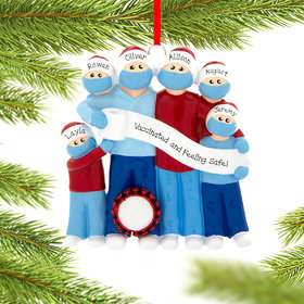 Personalized Vaccine Pandemic Survival Family of 6 Christmas Ornament