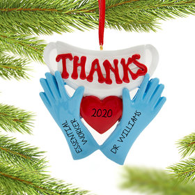 Personalized Our Thanks Gloves Quarantine Christmas Ornament