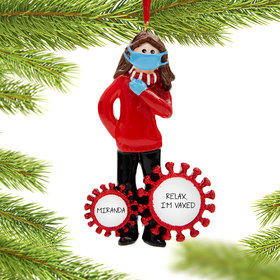 Personalized Vaccine Pandemic I Survived Corona Gal Christmas Ornament
