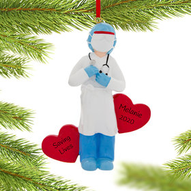 Personalized Quarantine PPE Nurse Christmas Ornament