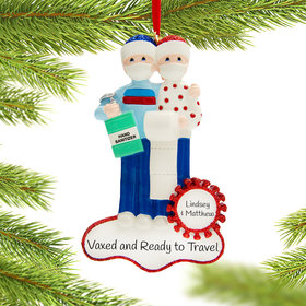 Personalized Vaccine Pandemic Toilet Paper Couple Christmas Ornament