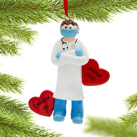 Personalized Quarantine PPE Doctor Christmas Ornament