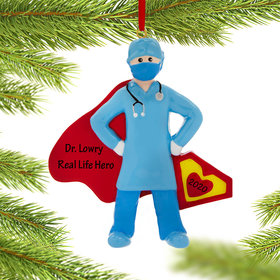 Personalized Quarantine Super Doctor Christmas Ornament