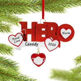 Personalized Quarantine Hero Nurse Christmas Ornament