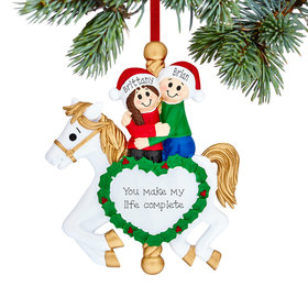 Personalized Carousel Couple Christmas Ornament