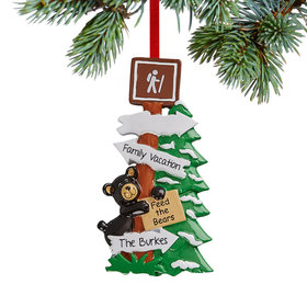 Personalized Feed the Bears Christmas Ornament
