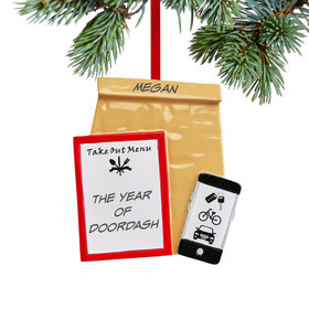 Personalized Takeout Christmas Ornament