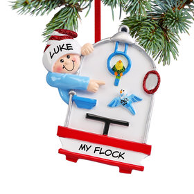 Personalized Loves Birds Christmas Ornament