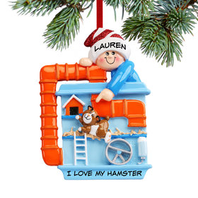 Personalized Loves Hamsters Christmas Ornament