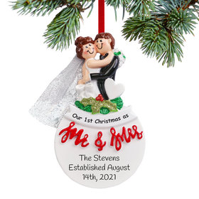 Personalized Mr & Mrs Christmas Ornament