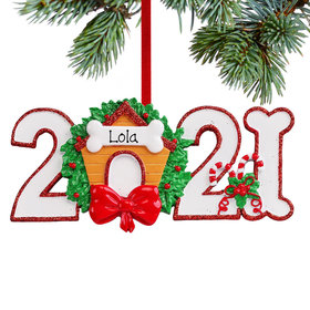 Personalized 2021 Dog Christmas Ornament